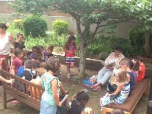 The reading garden was perfect for our summer literacy fair!